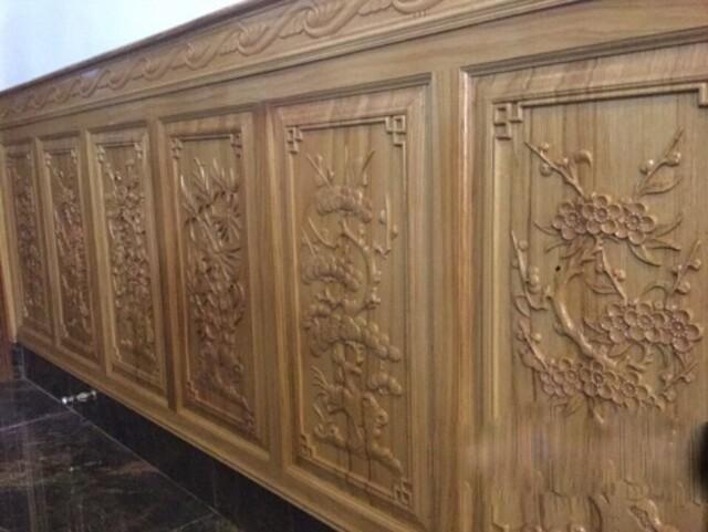 mẫu gỗ ốp tường phòng khách 9