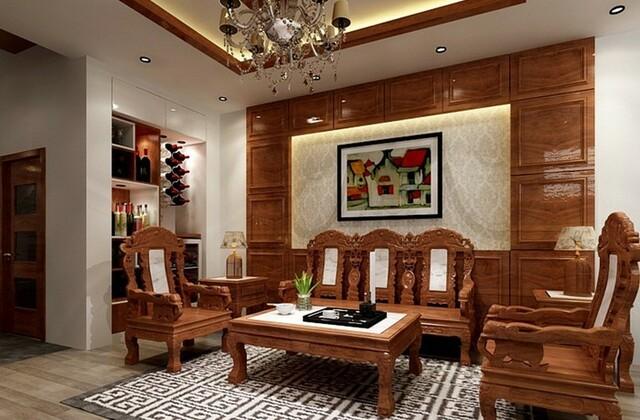 Nội thất gỗ tự nhiên phòng khách 2