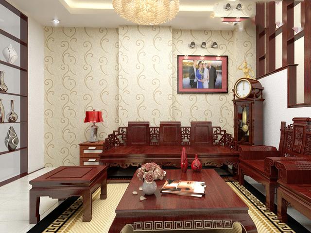 Nội thất gỗ tự nhiên phòng khách 3
