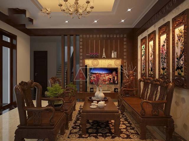 Nội thất gỗ tự nhiên phòng khách 4