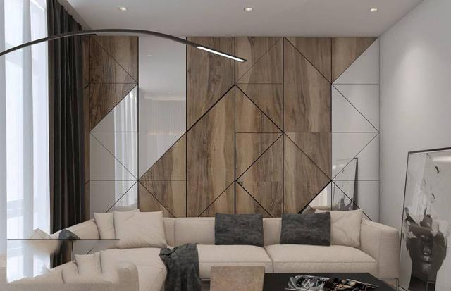Trang trí vách ốp gỗ trên các mảnh tường
