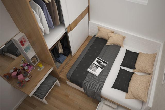 thiết kê phòng ngủ nhỏ 7m2