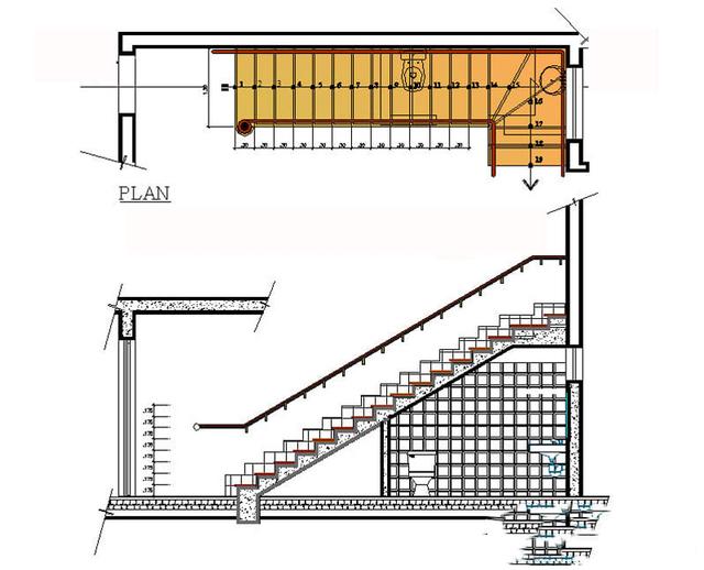 Bản vẽ nhà vệ sinh dưới gầm cầu thang 3