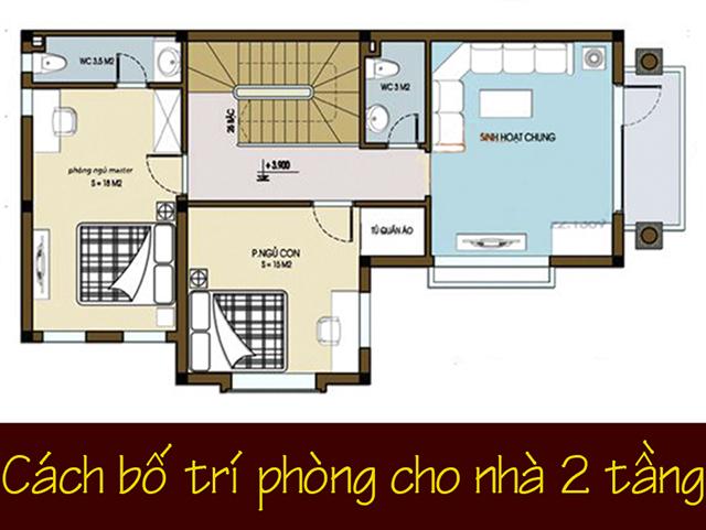 cách bố trí các phòng trong nhà 2 tầng