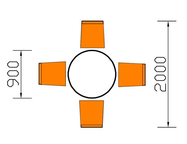 Kích thước bàn ăn hình tròn