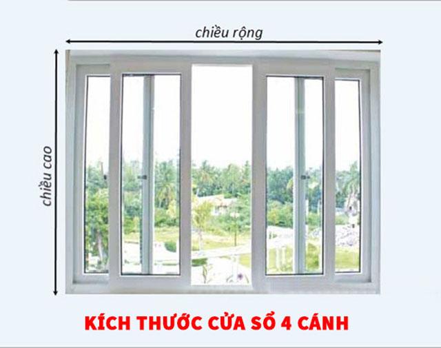 chú ý khi lựa chọn kích thước cửa sổ