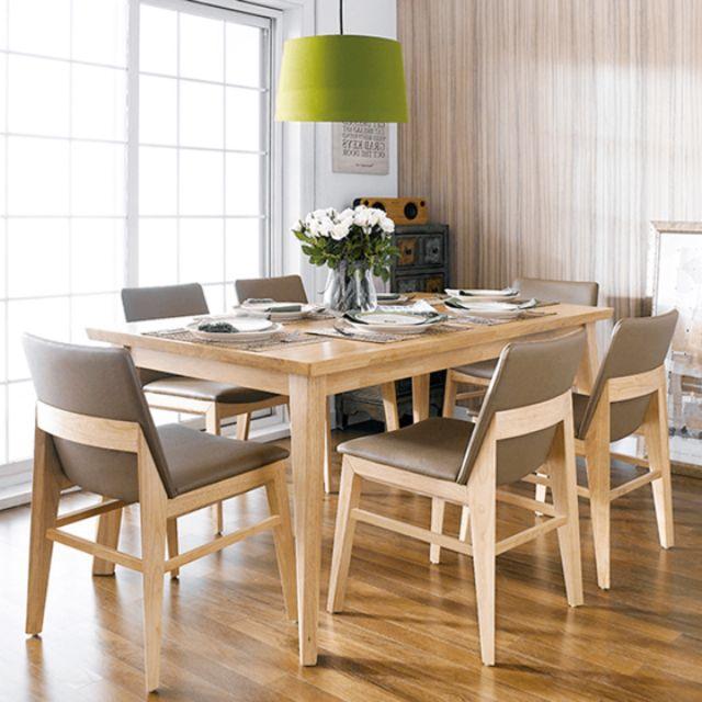 mẫu bàn ăn bằng gỗ sồi 1