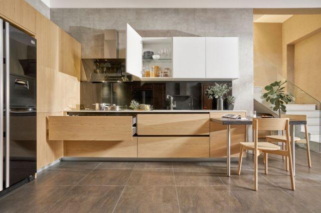 mẫu nội thất gỗ sồi phòng bếp 3