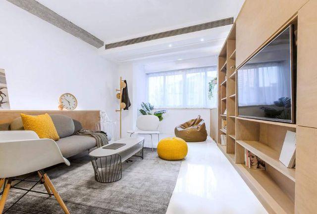 mẫu nội thất đỗ sồi phòng khách 2