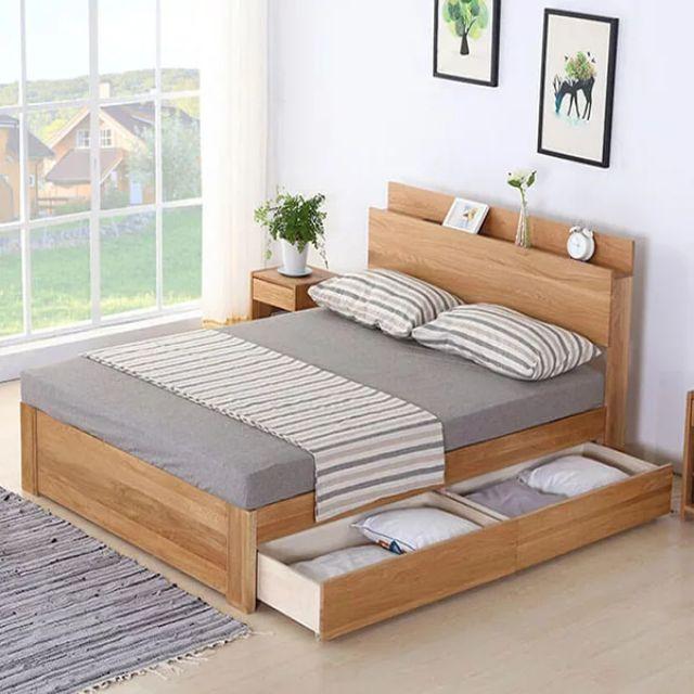 mẫu nội thất gỗ sồi phòng ngủ 1