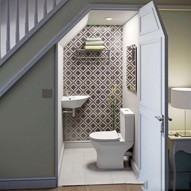mẫu thiết kế nhà vệ sinh dưới gầm cầu thang 4