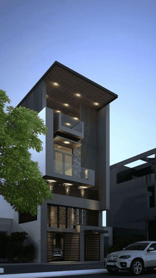 Xây nhà 2 tầng chứa garage xe
