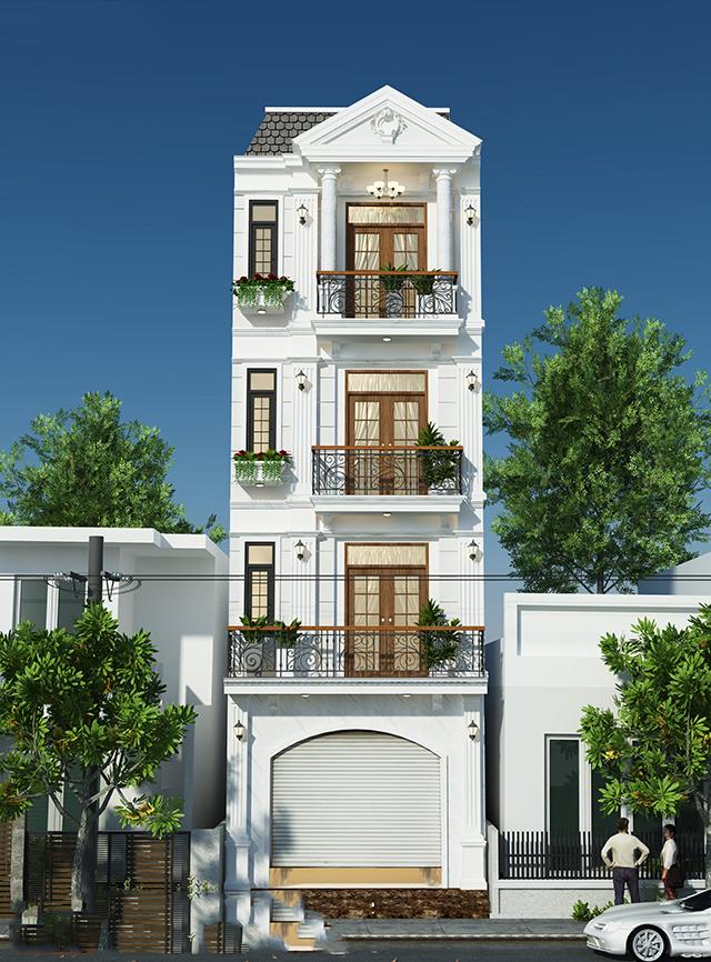 nhà phố tân cổ điển 4 tầng 1