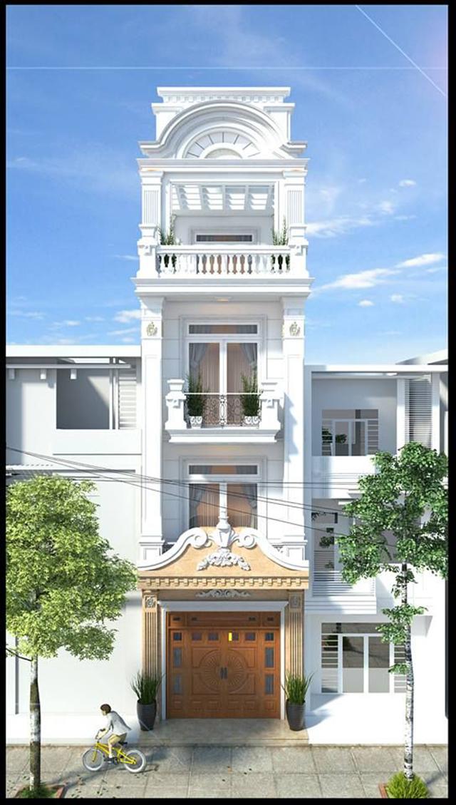 nhà phố tân cổ điển 4 tầng 3