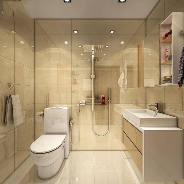 Cách bố trí nhà vệ sinh trong nhà ống 6