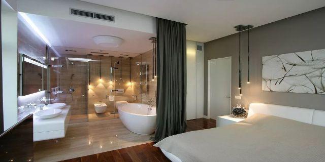 Một số những đặc trưng trong thiết kế nhà vệ sinh nằm trong phòng ngủ