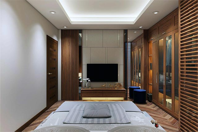 Cách chọn mua kệ tivi phòng ngủ đẹp