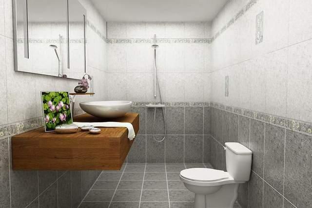 Chọn gạch ốp lát nhà vệ sinh có viền