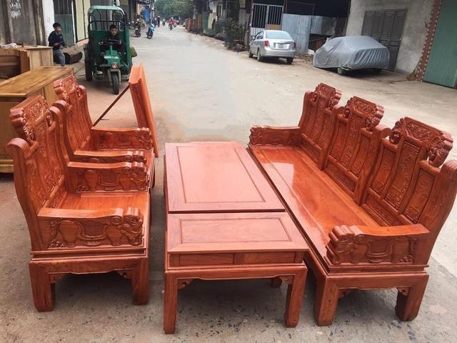 mẫu bàn ghế gỗ phòng khách 2