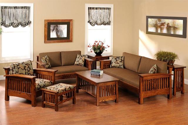 mẫu bàn ghế gỗ phòng khách 4