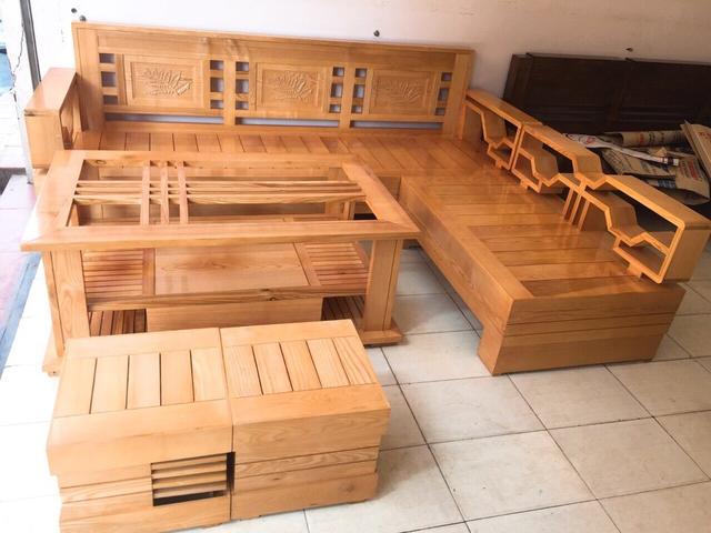 mẫu bàn ghế gỗ phòng khách 7