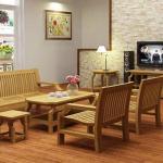 10+ Mẫu bàn ghế gỗ phòng khách đơn giản, sang trọng