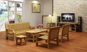 mẫu bàn ghế gỗ phòng khách 8