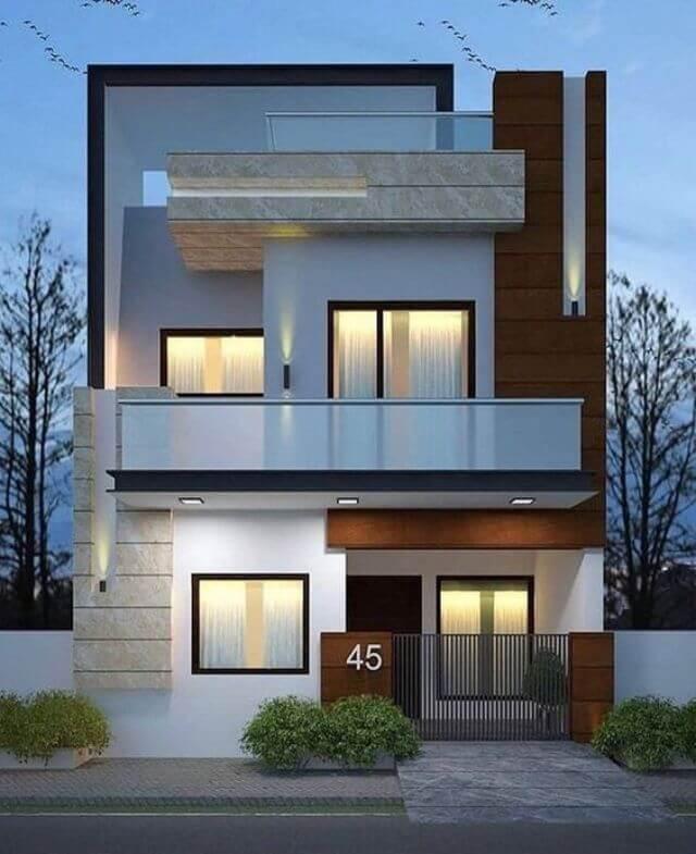 Mẫu nhà 2 tầng 8m mặt tiền 4