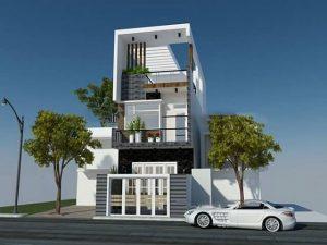 Mẫu Nhà phố mái Thái 3 tầng mặt tiền 6m
