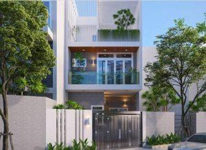 Mẫu thiết kế nhà mặt tiền 7m 3 tầng tại Vũng Tàu