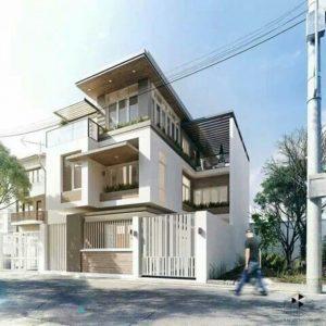 Mẫu thiết kế nhà phố dạng ống mặt tiền 8m 3