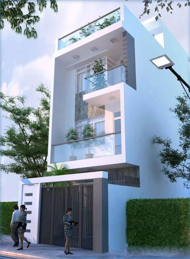 Mẫu thiết kế nhà phố 3 tầng mặt tiền 5m - S=5x10m