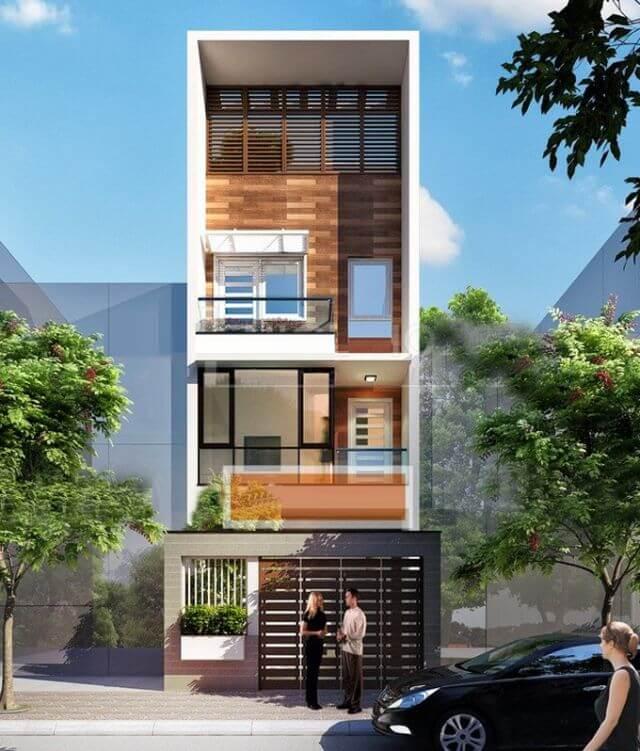 Mẫu thiết kế nhà phố 3 tầng mặt tiền 5m - S=5x17