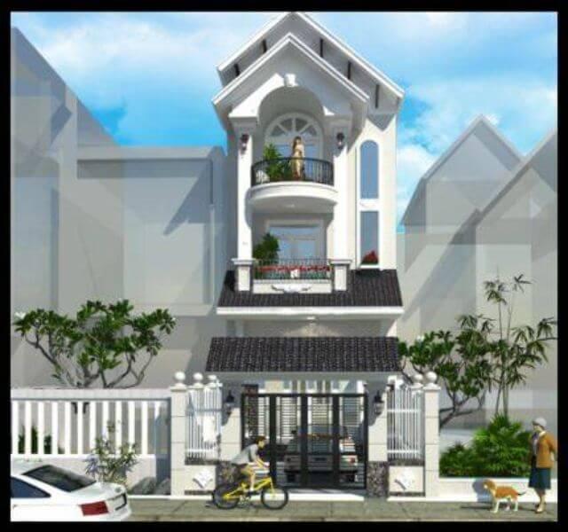 Mẫu thiết kế nhà phố 3 tầng mặt tiền 5m - S=5.5x12m