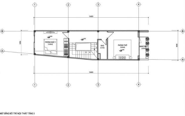 Mặt bằng tầng 3 nhà 30m2 xây 3 tầngMặt bằng tầng 3 nhà 30m2 xây 3 tầng