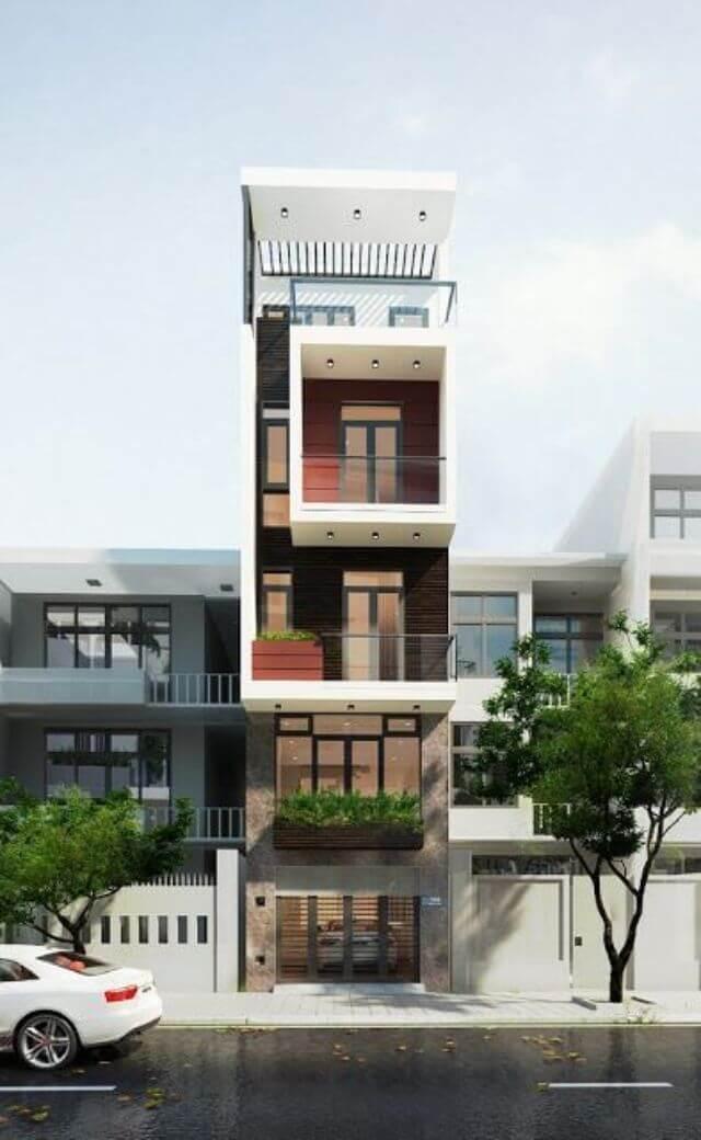 Mẫu nhà 4 tầng đẹp mặt tiền 4m