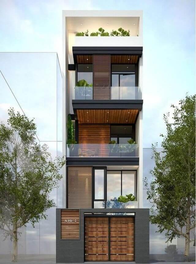 Mẫu nhà 4 tầng đẹp mặt tiền 5m