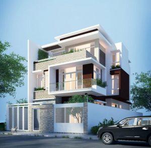 thiết kế nhà 3 tầng mặt tiền 8m 3