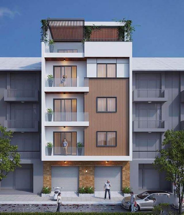 Mẫu thiết kế nhà 5 tầng mặt tiền 8m độc đáo tại Quảng Ninh
