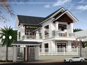 thiết kế nhà mặt tiền 9m 16