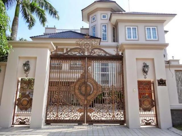 cổng nhà đẹp theo phong thủy 1