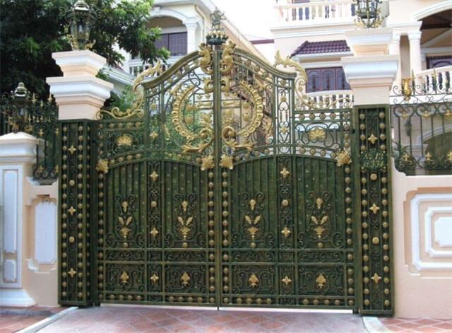 cổng nhà đẹp theo phong thủy 5