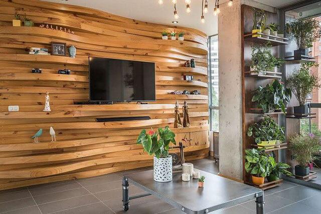 sử dụng tấm gỗ trang trí nhà ở