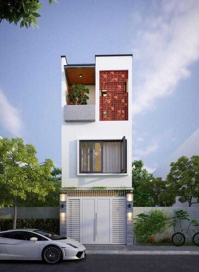Hình ảnh mẫu nhà phố 3 tầng 4x16m 2