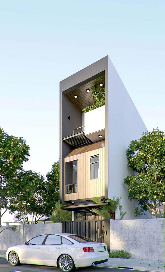 Hình ảnh phối cảnh nhà phố 3 tầng 4x16m