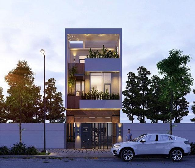 mẫu nhà đẹp 3 tầng 5x12m 1