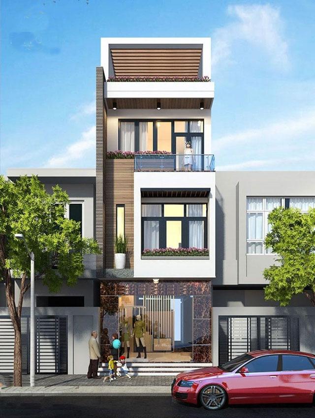 mẫu nhà đẹp 3 tầng 5x12m 7