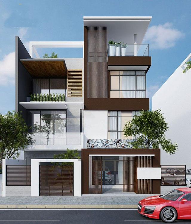 mẫu nhà đẹp 3 tầng 5x12m 8