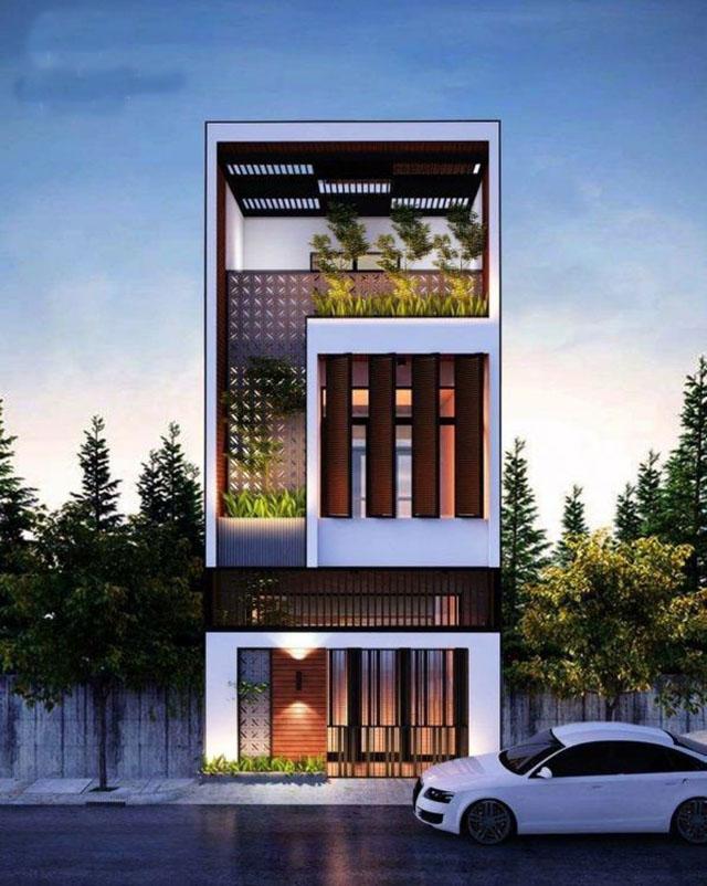 mẫu nhà đẹp 3 tầng 5x12m 9