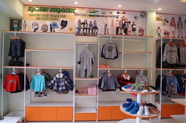 Mẫu thiết kế shop quần áo trẻ em 2
